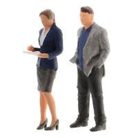1/64 Figuren Diorama Office Scene Model Sekretär Und Boss Figur