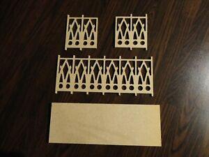 DOLLS HOUSE 1/12 SCALE WOODEN BALCONY KIT - 170mm LONG - BALC001