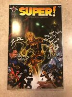 Super! 1 Nm Near Mint Unlikely Heroes Studios Signed Creator Artist Writer Auto