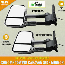 NEW Electric Towing Caravan Side Mirror Pair Toyota Landcruiser 100 Series
