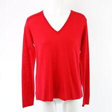 HMK Damen Pullover Emi 36 Rot Schurwolle Wolle Strick V Neck Weich NP 179 NEU
