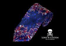 New Lord R Colton Masterworks Tie Levanzo Aqua /& Imperial Purple Necktie