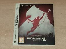 Uncharted 4 A Thief's End PS4 Only On Playstation Limited Edition Sleeve NO GAME