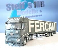 "+++ NZG Mercedes Benz Actros FH25 ""Fercam"" 1:50 Lkw mit Auflieger  LE +++"