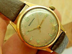 Vintage 17 jewel swiss made Hamilton Gold Plated Wrist watch circa 1966