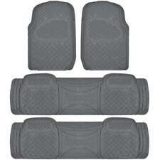 4 Piece 3 Row Gray Semi Custom Full Set Floor Mats for Chrysler Town & Country
