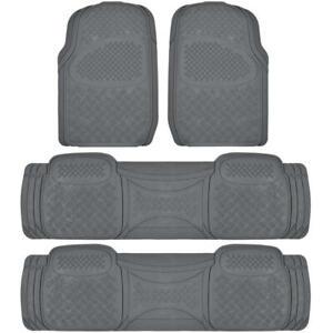 Full Set Floor Mats for Chrysler Town & Country 4 Piece 3 Row Gray Semi Custom