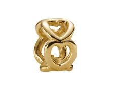 Genuine Pandora Open Heart Spacer Charm 14K Gold Vermeil 790454