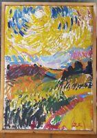 Peinture sur toile signée. Painting on canvas signed moderne