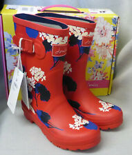 Joules Molly Welly Red Lilypad Floral Wellingtons Wellies Festival Box Size 3