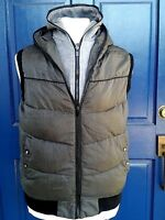G-Star Raw 3301 Puffer WHISTLER VEST Double Hoodie XXL Gray Black Micro check
