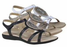 Velcro Leather Strappy Sandals & Flip Flops for Women
