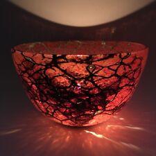 Phoenician Modern Art Glass Bowl Molten Lava Flow Malta Mdina Spider Web Vase