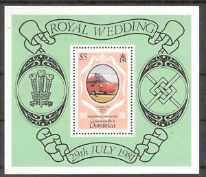 Dominica 1981 Royal Wedding Charles & Di Souvenir Sheet MNH (SC# 704)