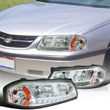 2000-2005 Chevy Impala Replacement Chrome SMD LED  DRL Headlights Head Lamps