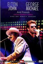 ELTON JOHN GEORGE MICHAEL & FRIENDS LIVE WEMBLEY ARENA DVD 11 TRACKS SEALED!!!