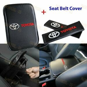 For TOYOTA New Embroidery Car Center Armrest Cushion Mat Pad Cover Combo Set