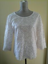 BEAUTIFUL GAP EYELET WOMAN'S BLOUSE BEIGE  SIZE L GREAT CONDITION WORN ONCE