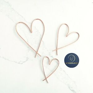 Three Wire Hearts, Metal Wall Art in choice of colour, Gallery Wall Sign, Decor