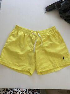 Mens Size XL Ralph Lauren Swim Shorts Yellow Bright