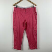 Sportscraft Womens Pants Size 12 Pink Mid Rise Good Condition Lightweight