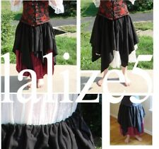 Renaissance Medieval Pirate Wench TOP PETAL OVER SKIRT or APRON handmade LaLize5