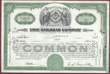 New listing Erie Railroad Company Stock Certificate, 20 Shares, Oct. 27, 1959
