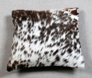NEW COW HIDE LEATHER CUSHION COVER RUG COW SKIN Cushion Pillow Covers C-5267