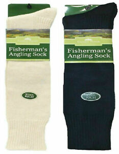 New Mens Wool Country Fishing Fishermans Angling Long Hose Welly Boot Socks