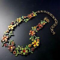 Michal Negrin Red Swarovsky Crystals necklace choker vintage signed