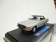Mercedes 350 SL Cabrio  NO:1143// 1977 Silver Modellauto 1:18 Sun Star