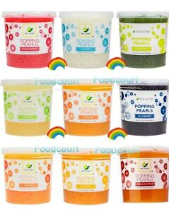 Tea Zone Popping Pearls Popping Boba, 13 Flavors 7 lbs / 3.2 kg Each