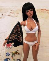 1/4 BJD Girl Doll 45cm Tall Resin Bare Doll + Eyes + Face Makeup Tan Skin