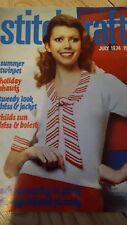 stitchcraft magazine 1974 retro knitting and crotchet patterns