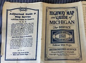 1930s(?) Michigan Highway Map & Service Guide