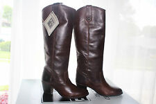 FRYE JACKIE BUTTON SOFT VINTAGE LEATHER  CHOCOLATE #6.5us $418