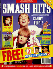 SMASH HITS 1990 STONE ROSES SOUP DRAGONS CANDY FLIP FLOWERED UP TMNT PAULA ABDUL