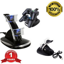 For Playstation 3 PS3 Dual Controller Charger LED Charging Dock Station Stand