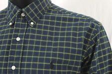 Ralph Lauren Mens Classic Fit Oxford Green Blue Yellow Check LS Dress Shirt sz L