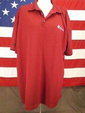 Nike Golf Shirt KRAFT FOODS Engineer Council Polo Cranberry Men's Size XXL