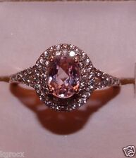 1.90 CTW  ROSE GOLD  RICH KUNZITE & WHITE ZIRCON  SOLITAIRE  RING SIZE 10