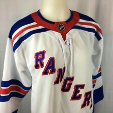 NY Rangers Womens Hockey Jersey NHL Stitched Letters Vented White L   XL NWT a2e085e91