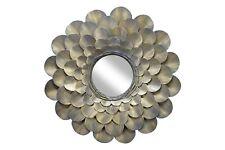 Espejo de pared de metal 'Florescencia' | Hecha a mano 80x80x8cm