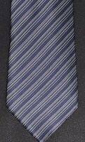 New Brioni Blue Tones Diagonal Stripe Silk Necktie Tie 3.5 X 62.25 Extra Long