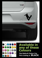 Snow board man silhouette fun car van vinyl sticker/ decals x 1