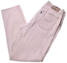 JECKERSON Uomo Jeans W34 L30 Kaki Cotone Slim GA14