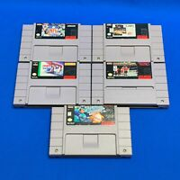 TESTED Lot 5 SNES Super Nintendo NFL Baseball NBA Live Basketball Olympics Games