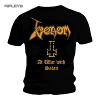 Official T Shirt VENOM Black Death Metal At WAR With Satan All Sizes