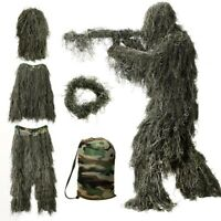 5 IN 1 Adults/Kids/Youth Woodland Camo/Camouflage Hunting 3D Ghillie Hide Suit