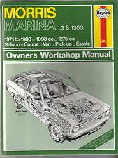 Morris Marina 1.3 & 1300 1971-80 1098cc & 1275cc Haynes Owners Workshop Manual